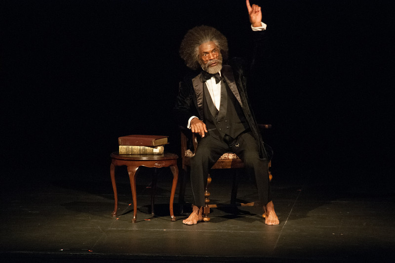 """Frederick Douglas: Mine Eyes Have Seen the Glory,"" one-man show by Andre DeShields during the Anne Frank Project at SUNY Buffalo State."