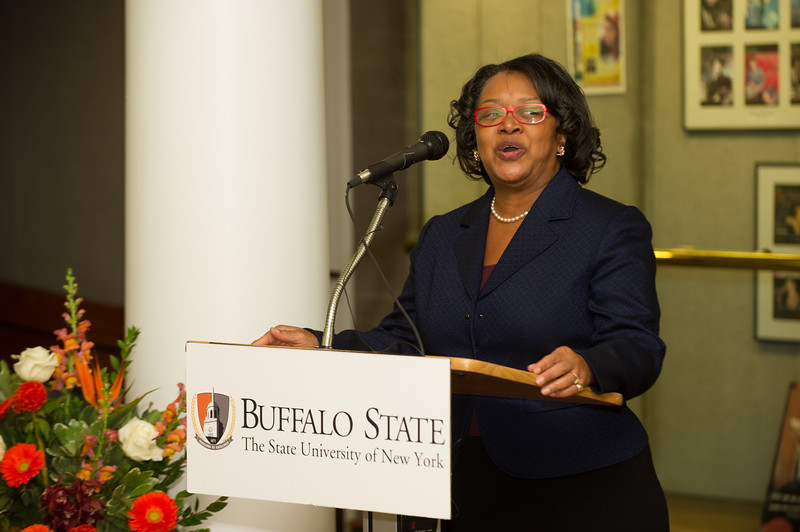 Presidential portrait unveiling ceremony at SUNY Buffalo State.