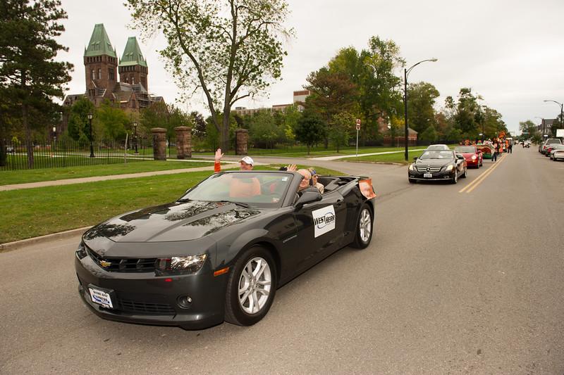 Homecoming Parade at SUNY Buffalo State.