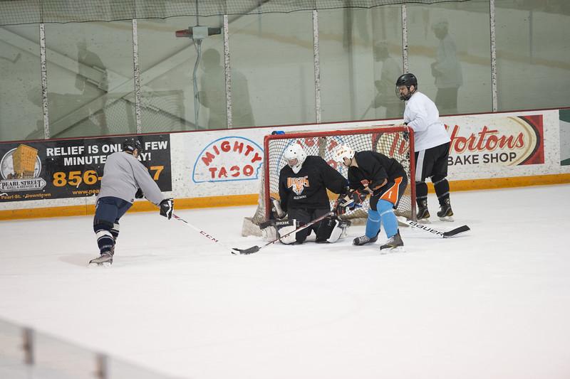 Alumni hockey game at SUNY Buffalo State.