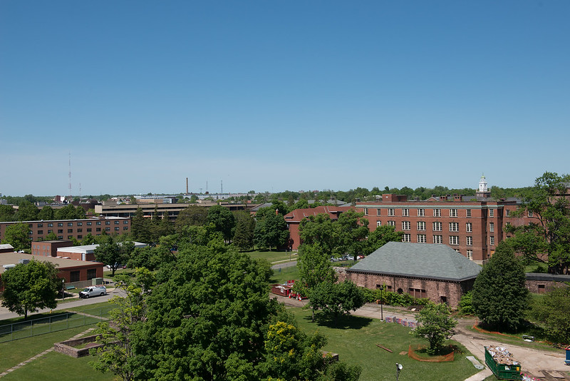 View of SUNY Buffalo State campus from Richardson Complex.