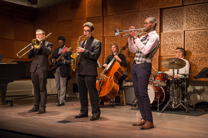 Elmwood Swing concert in Ciminelli Recital Hall at Buffalo State College.