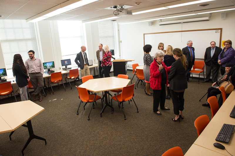 Naming ceremony for Ilene Fleischman Creative Writing Lab at Buffalo State College.