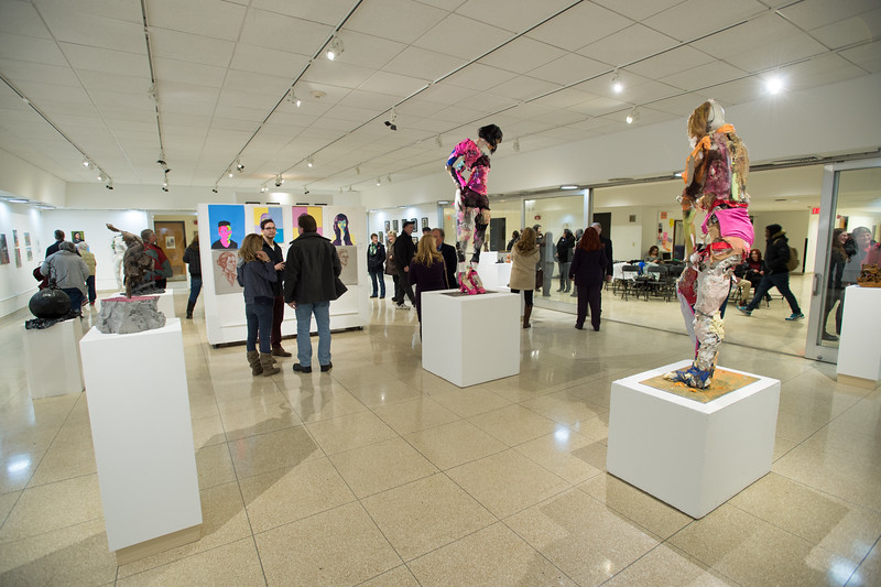 Fine Arts student show in the Czurles-Nelson Gallery at Buffalo State College.