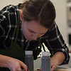 Art Conservation students working in labs at SUNY Buffalo State College.