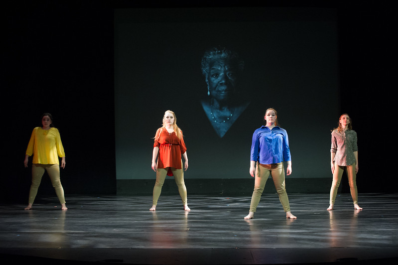 """""""RAP: Dance and Spoken Word"""" student dance concert at Buffalo State College."""