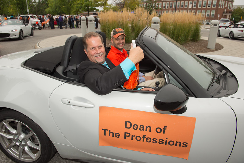 Homecoming parade at Buffalo State College.