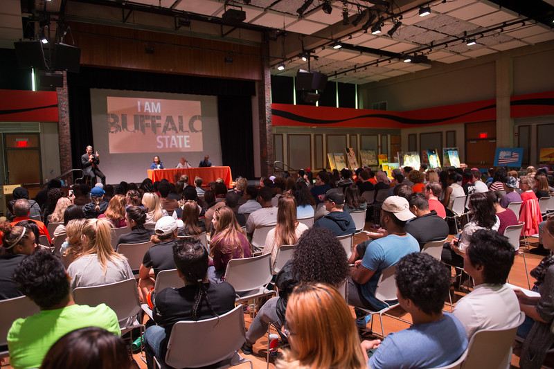 Day one of the Anne Frank Project Social Justice Festival at SUNY Buffalo State.