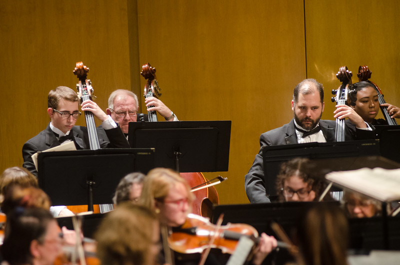 Philharmonia Orchestra playing in Rockwell Hall under the direction of Thomas Witakowski.