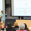 Undergraduate Summer Research Fellowships student wrap up presentations at Buffalo State College.