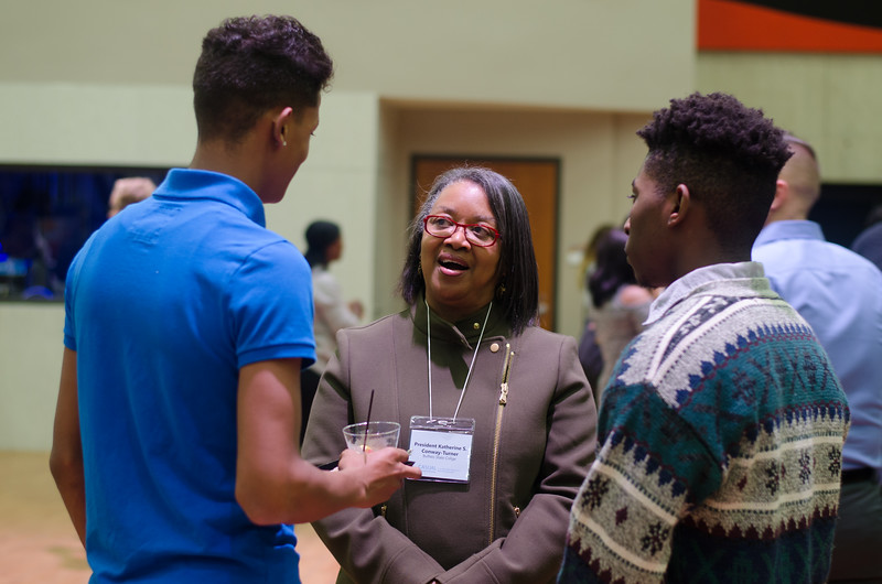 A Career Development Center event where students have a opportunity to lean and practices business related social skills.