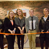 Ribbon cutting of the Donation Station thanks to the student philanthropy council.