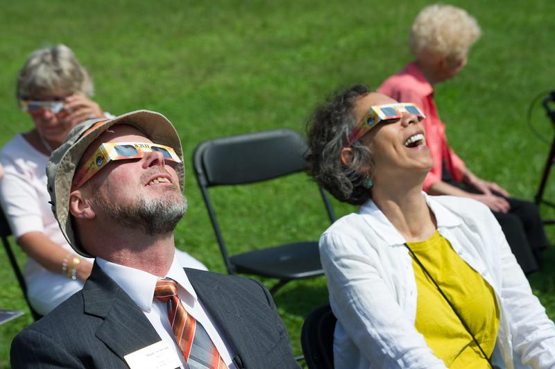 Solar eclipse celebration at Buffalo State College.