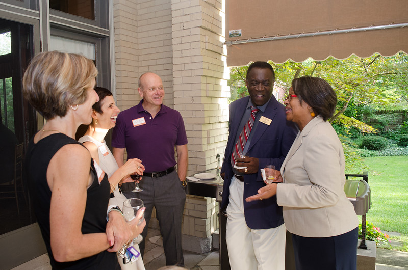 The president  welcomes the New faculty and Staff by hosting a Reception at  her residence.