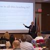 Lecture by Mathematics professor Joaquin Carbonara at Buffalo State College.