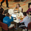 Students studying in Campbell Student Union at Buffalo State College.
