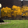 Fall campus scene at Buffalo State College.