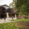 New Bishop Hall entrance at Buffalo State College.