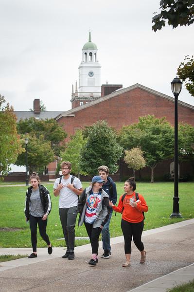 Fall campus scene at Buffalo State College.