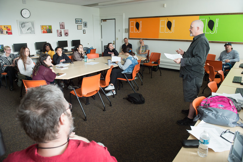Drop Hammer Student Reading Series: Robert Pomerhn poetry reading and workshop at Buffalo State College.