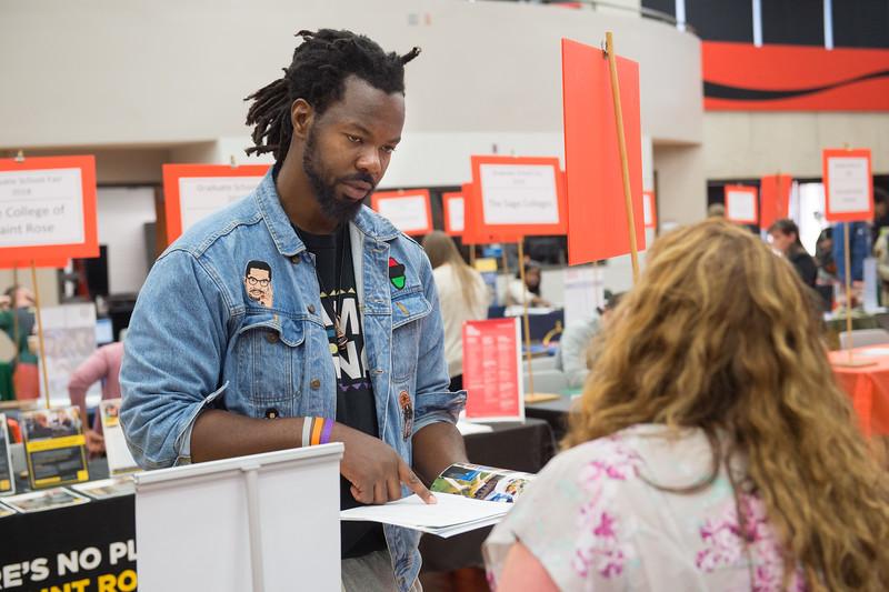 Career Development Center Graduate School Fair at Buffalo State College.