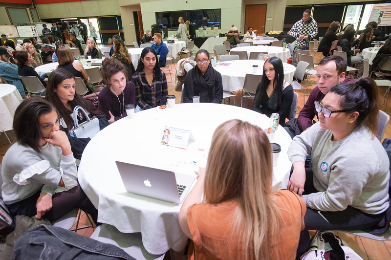"""Fashion Technology """"Meet the Professionals"""" Conference at Buffalo State College."""