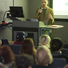 Artist talk and workshop by John Latona during the Anne Frank Project Social Justice Festival at Buffalo State College.