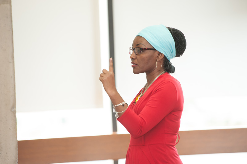 Transitional Justice in Burundi talk by <br /> Esperance Gatorethe during the Anne Frank Project Social Justice Festival at Buffalo State College.