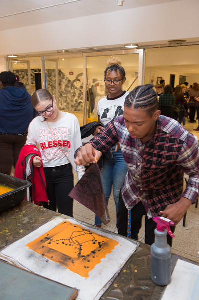 Peace Paper Project by Drew Matott during the Anne Frank Project Social Justice Festival at Buffalo State College.