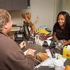 Communication professor Bruce Bryski advising student at Buffalo State College.