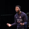 Student Lawrence Odusanya performs during the Theater Department New Student Showcase at Buffalo State College.