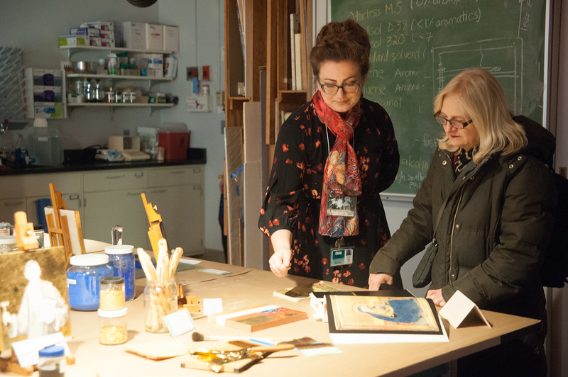Buffalo State's Art Conservation open house.