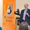 Dr. Peter Winkelstein (Kaleida Health) speaking at the Data Analytics Across Disciplines Conference at Buffalo State College.