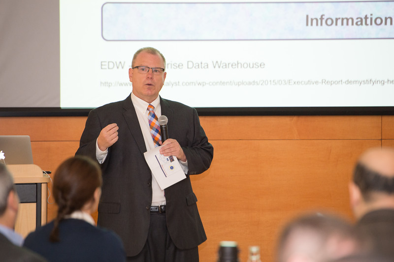 Michael D. Moskal (CUBRC, Inc.) speaking at the Data Analytics Across Disciplines Conference at Buffalo State College.