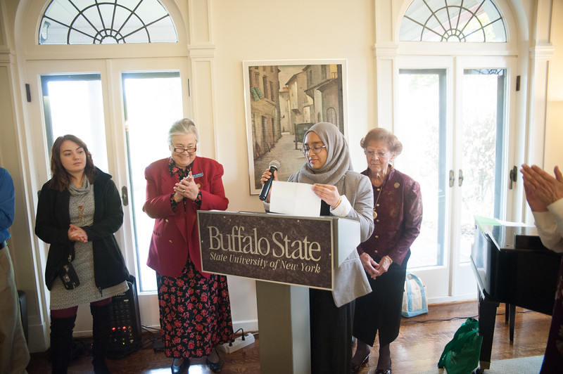 Buffalo Federation of Women's Club Tea at the President's house.