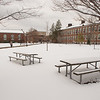 Winter campus scene at Buffalo State College.
