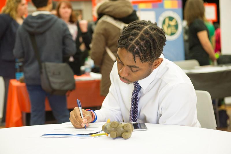 Career Development Center Job Fair at Buffalo State College.