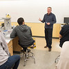 High school students working with faculty in labs during Stem at Buffalo State College.