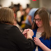Honors students being pinned during the Honors Convocation at Buffalo State College.