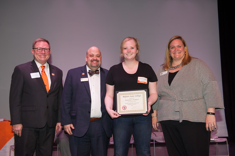 Student Affairs Leadership and Humanitarian Awards Ceremony at Buffalo State College.