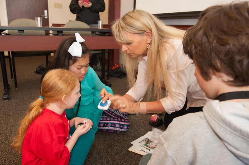 Exceptional Education demonstration of assistive technology during the UUP Take Your Child to Work Day at Buffalo State College.