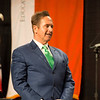 Congressman Brian Higgins receiving honoray degree during the Graduate Commencement at Buffalo State College.