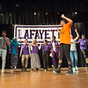 "Anne Frank Project (AFP) performing ""The Space Between"" and doing workshop for students at Lafayette High School in Buffalo, New York."