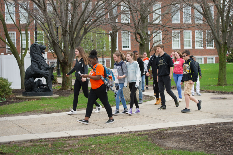 Middle school students visiting during College Readiness Program with English Education and Theater departments at Buffalo State College.