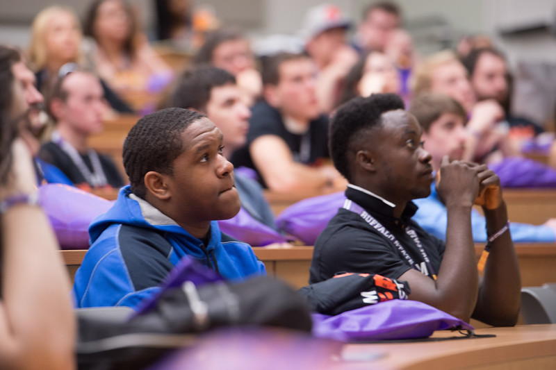 Transfer student orientation at Buffalo State College.