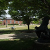 Summer campus scenic at Buffalo State College.
