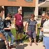 President Katherine Conway-Turner greeting students during Move In Day at Buffalo State College.