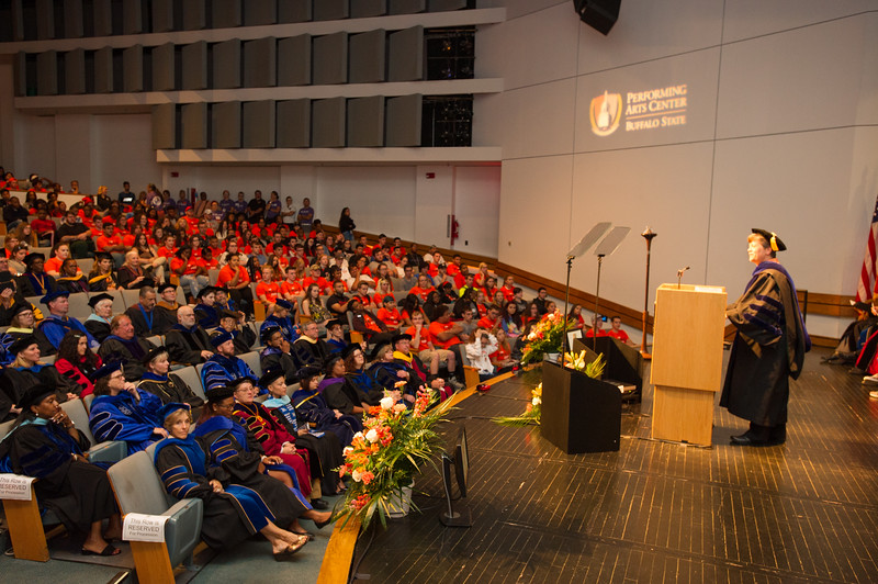 First-Year Convocation at Buffalo State College.