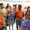Learning Community meeting for first year students at Buffalo State College.