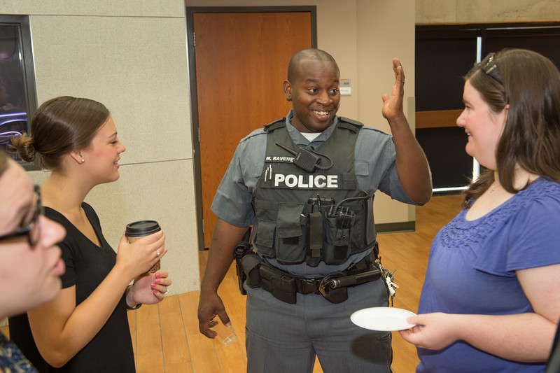 University Police meet and greet with Residence Life staff at Buffalo State College.